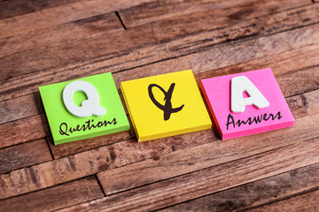 post-it acronym :  q & a