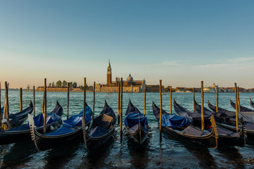 Traditional Gondolas in St Marco in Venice