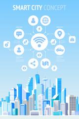 Smart city concept infographics.