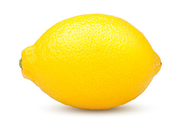 Whole lemon on white background, clipping path, isolated on white background