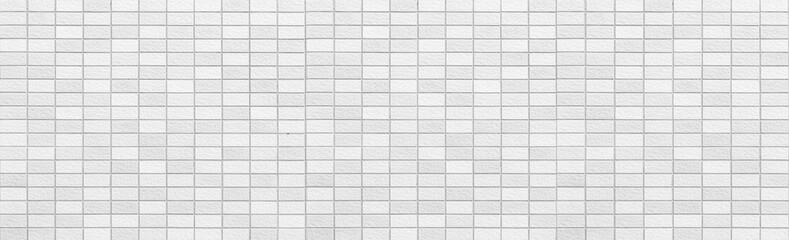 Panorama of Interior white brick wall background