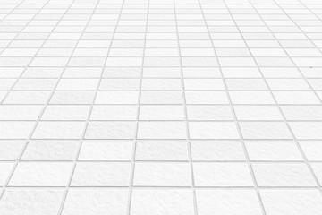Outdoor white tile floor background