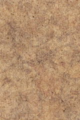 High resolution photograph of recycle paper light brown coarse grain mottled grunge texture sample