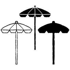 Summer beach umbrella set
