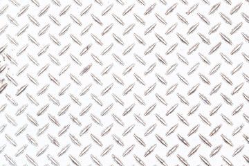White diamond plate floor background and pattern