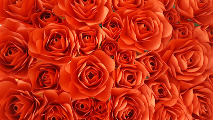 paper red roses for background