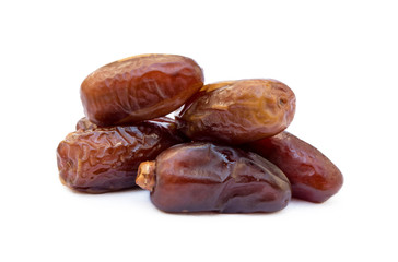 Dried sweet dates isolated on a white background