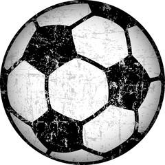 Soccer ball / football illustration, grungy style vector