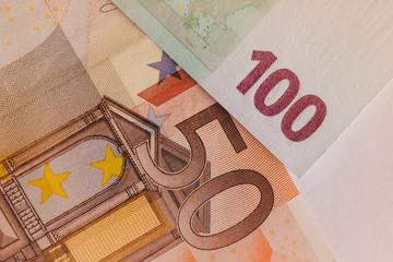 Macro money euro concept.