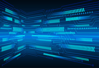 binary circuit board future technology, blue arrow cyber security concept background, abstract hi speed digital internet. motion move blur. pixel vector