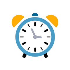 Alarm icon. Clock icon - Clock symbol, vector alarm illustration isolated