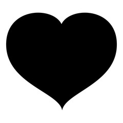 Heart with end icon black color vector illustration