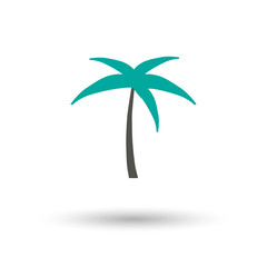 Palms icon flat. Illustration isolated vector sign symbol