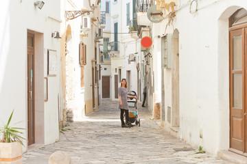Gallipoli, Apulia - Cobblestone in the middle aged alleyways of Gallipoli