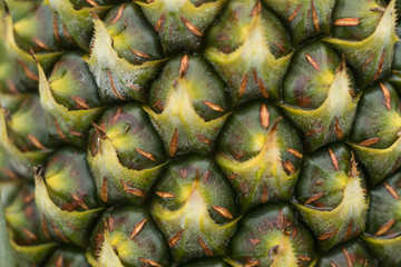 pineapple fruit clouse up texture background