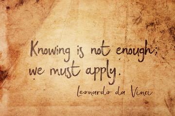 we must apply Leonardo