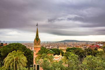 Foto op Canvas Barcelona Cityscape in Barcelona