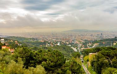 Cityscape in Barcelona