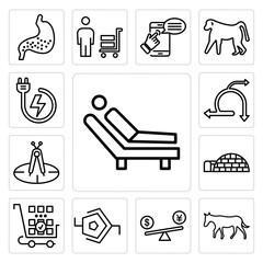 Set of psychologist, ass, price comparison, synapse, more products, igloo, calibration, agile, power backup icons
