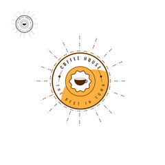 coffee logo brown Design Collection. Freeform. symbol. Abstract. vector illustration. on white background. Circle. coffee bean. Espresso. Latte. cappuccino. Caffe Mocha. Americano coffee. label. menu