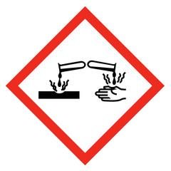 GHS Symbol Ätzend nach REACH Verordnung