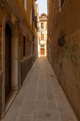 A small and romantic alley in Venice