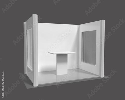 U0026quot 3d Rendering  Blank Creative Exhibition Stand Design