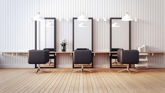 Modern salon interior / 3D render image