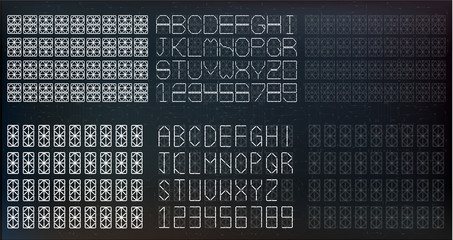 Segment font. A futuristic design. Vector illustration. EPS10 Set of white digital numbers