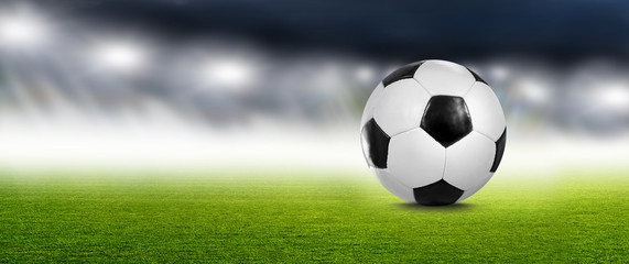 Fußball im Scheinwerferlicht