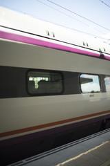 Train in station platform