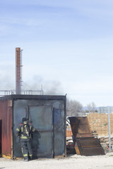 Fire station training equipment