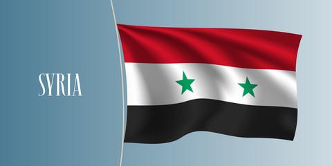 Syria waving flag vector illustration