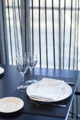 Restaurant cafe bar in luxury hotel