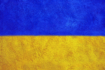 texture of colorful suede in the form of the Ukrainian flag