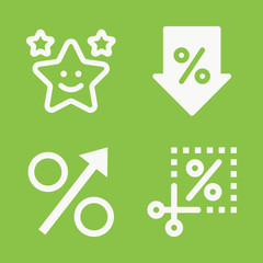 Shapes icon set - filled collection of 4 vector icons