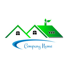 House logo, Home icon, Eco construction, Real estate design 008