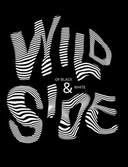 black and white slogan graphic for t-shirt