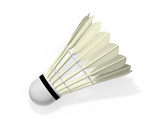 Badminton shuttlecock 3d rendering