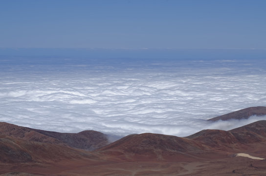 Sea of clouds, a frame of a time lapse taken at the top of the Cerro Paranal in the region of Antofagasta, Chile