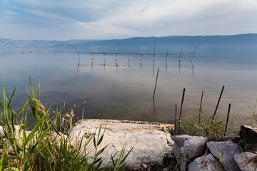 Varano lake  Puglia  Gargano Italy