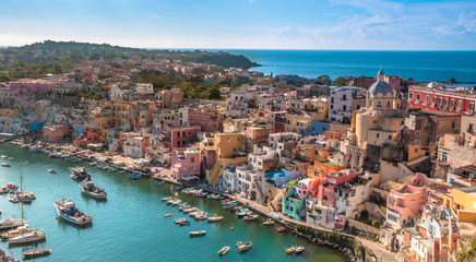 Wall Mural - The Picturesque island of Procida, Naples, Italy