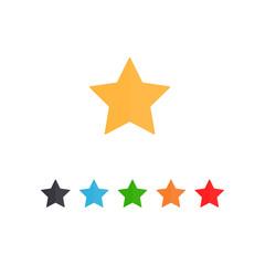 collorfull star icon flat design