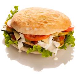 Deliceus hamburger isolated over white background