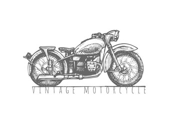 illustration of Vintage motorcycle