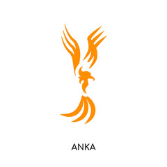 anka logo isolated on white background