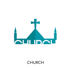 church logo gallery isolated on white background