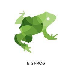 big frog logo isolated on white background