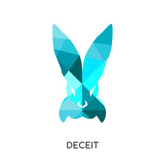 deceit logo isolated on white background