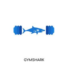 gymshark logo isolated on white background